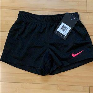 Nike Girl's black mesh shorts